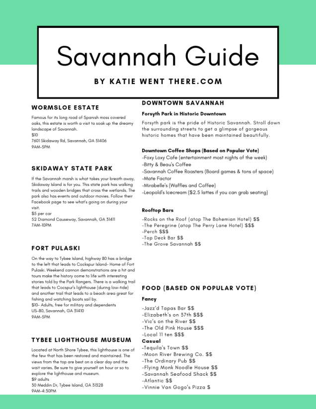 Savannah Guide