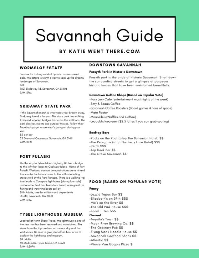 Savannah Guide
