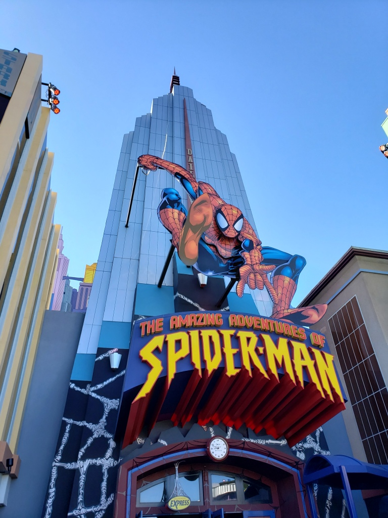 islands of adventure spiderman ride