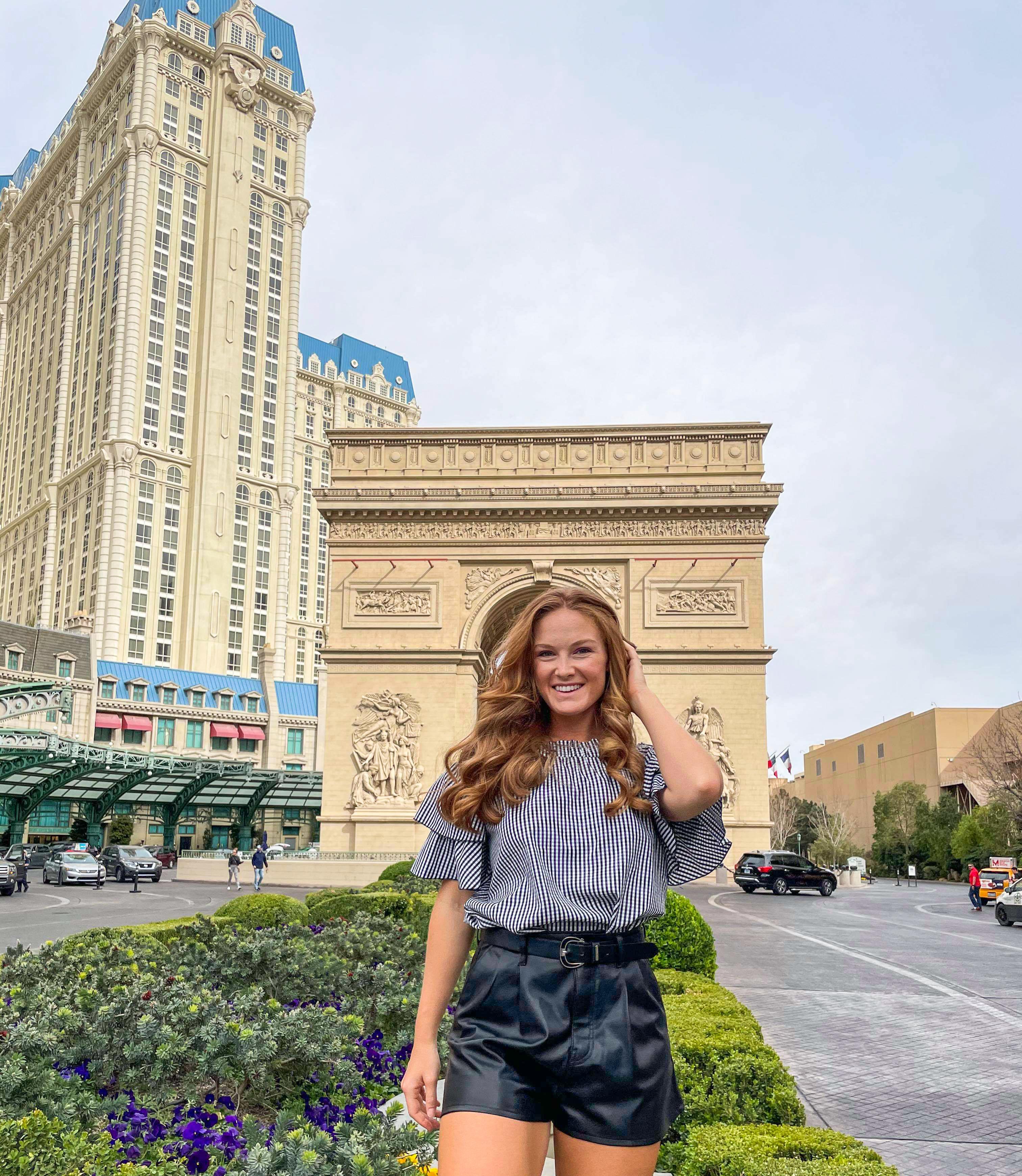 Paris Las Vegas Hotel and Las Vegas Outfit